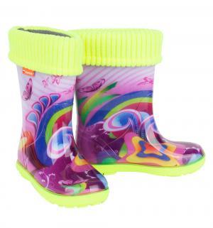 Резиновые сапоги , цвет: фиолетовый Demar