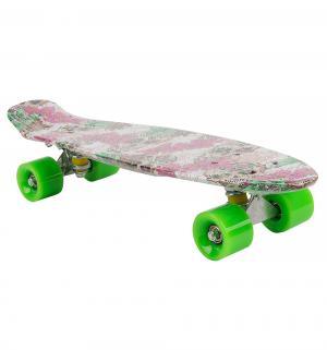 Скейтборд  S-2206W, цвет: floral skull Leader Kids