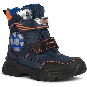 Ботинки Geox. Цвет: синий/оранжевый
