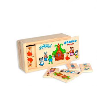 Деревянная игрушка  Домино Теремок Затейники
