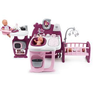 Большой игровой центр для пупса  Baby Nurse Smoby. Цвет: фиолетово-розовый
