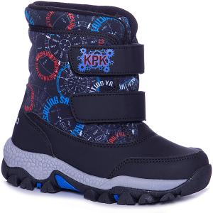 Утепленные ботинки Kapika. Цвет: черный/серый
