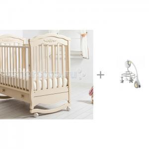 Детская кроватка  Шарлотта качалка + мобиль Next2Dreams Гандылян