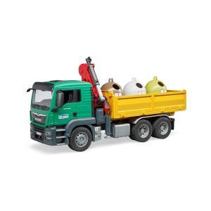 Самосвал  c 3 мусорными контейнерами Bruder