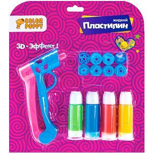Набор для творчества  с пистолетом и жидким пластилином, 4 цвета Color Puppy. Цвет: фиолетовый
