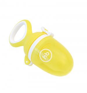 Ниблер  Nibbler twist с силиконовой сеточкой полипропилен, цвет: желтый Happy Baby