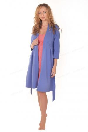 Халат  Freedom для беременных и кормящих, цвет: синий Мамин Дом