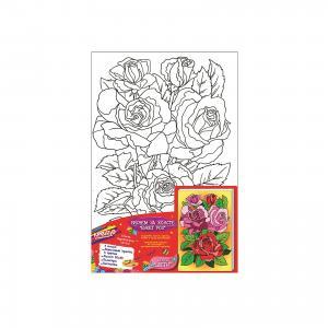 Роспись по холсту Букет роз, Creatto Креатто