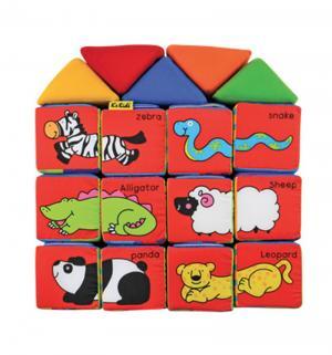Мягкие кубики Ks Kids Учись играя (на русском языке), 8 см K's