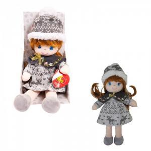 Кукла в серой шапочке и фетровом платье 36 см ABtoys