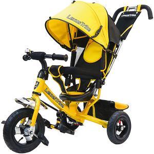 Трехколесный велосипед  с надувными шинами 10 и 8 Lexus Trike. Цвет: желтый