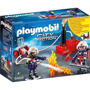 Игровой набор Playmobil «Пожарная служба: пожарные с водяным насосом» PLAYMOBIL®