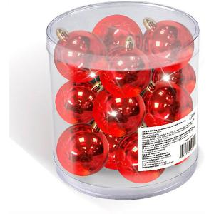 Набор елочных шаров  12 шт, 3 см., красные B&H. Цвет: разноцветный