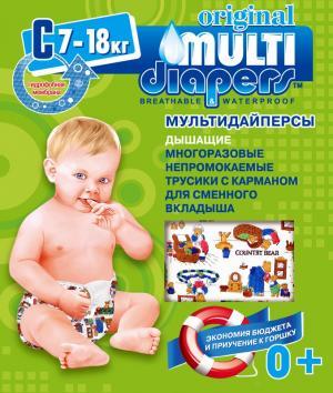Многоразовые подгузники-трусики  C (7-18 кг) 1 шт. Multi-Diapers