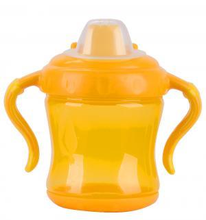 Поильник-непроливайка  С ручками, от 6 мес, цвет: желтый Бусинка