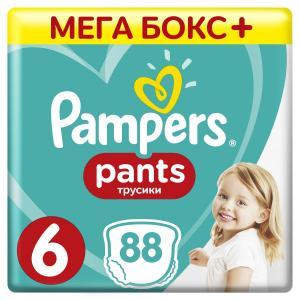 Трусики-подгузники  Pants, р. 6, 15+ кг, 88 шт Pampers