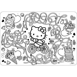 Коврик-раскраска  Hello Kitty Style Me Up