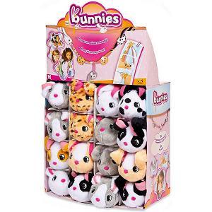 Мягкая игрушка на магнитах  Кролик Bunnies 9,5 см IMC Toys