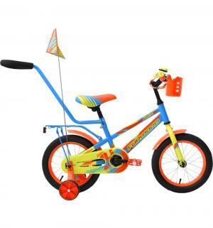 Велосипед  Meteor 14, цвет: голубой/зеленый Forward