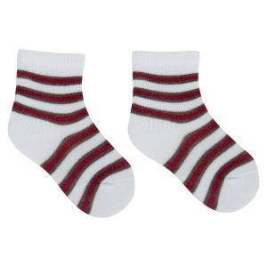 Носки , цвет: белый/бордовый Akos