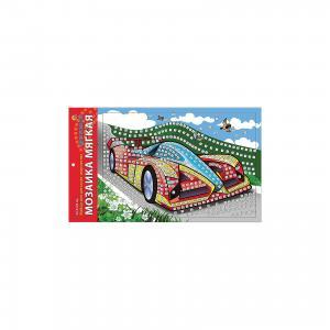 Мягкая мозаика Автомобиль формат А4 (29.5х20 см) Издательство Рыжий кот