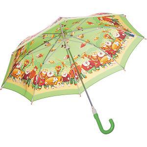 Зонт-трость  Рыбалка со светодиодами, зеленый Zest. Цвет: зеленый