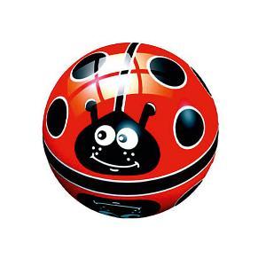 Мяч  Божья коровка на поле, 14 см Dema-Stil. Цвет: черный/розовый