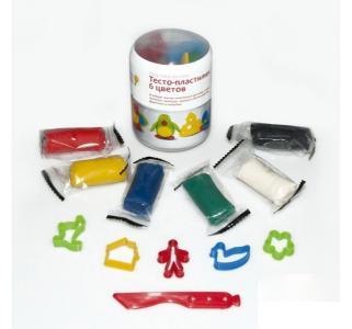 Набор-мини для лепки  тесто-пластилин 6 цв. Genio Kids