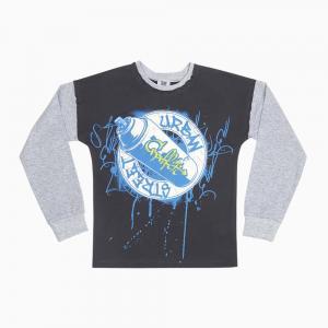 Джемпер  Граффити, цвет: синий/серый Free Age