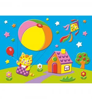 Аппликация  Картинка мягкая. Котёнок на воздушном шаре Дрофа