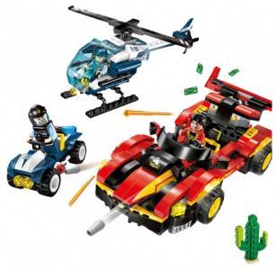 Конструктор  Машина и вертолёт полиция (405 деталей) Enlighten Brick