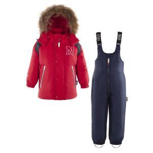 Комплект куртка/полукомбинезон  Mori, цвет: красный/синий Nels