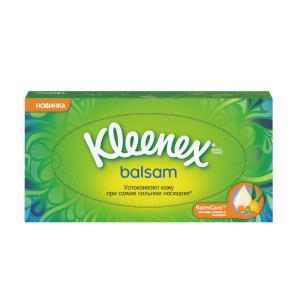 Салфетки  Бальзам в коробке, 72 шт Kleenex