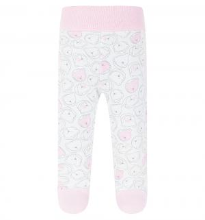 Ползунки  Teddy Bear, цвет: белый/розовый Gamex