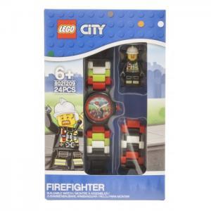 Часы  наручные аналоговые City с минифигурой Fireman на ремешке Lego
