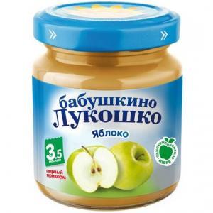 Пюре  яблоко с 4 месяцев, 100 г Бабушкино лукошко