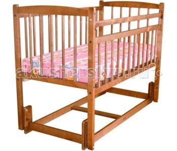 Детская кроватка  Беби 3 Разборная маятник продольный Массив