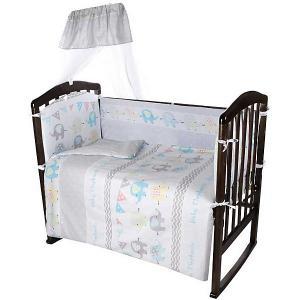 Комплект в кроватку  Baby Elephants, 7 предметов Ifratti. Цвет: разноцветный