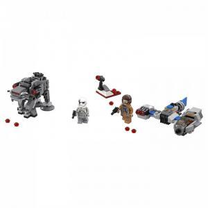 Конструктор  Star Wars Бой пехотинцев Первого Ордена против спидера на лыжах Lego