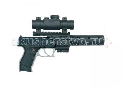 Игрушечное оружие Пистолет PB 001 c глушителем и телескопическим прицелом Schrodel