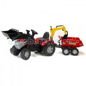 Трактор-экскаватор с прицепом и ковшом 1030W Falk