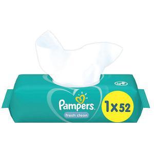 Детские влажные салфетки  Fresh Clean, 52 шт Pampers