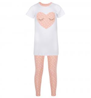 Пижама футболка/брюки  Сердечко, цвет: розовый Котмаркот