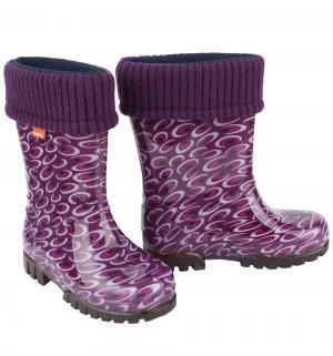 Резиновые сапоги  Аметист, цвет: фиолетовый Demar