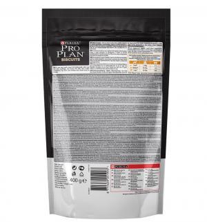 Бисквит  PRO PLAN для взрослых собак здоровых животных, лосось/рис, 400г