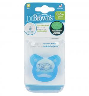 Пустышка Dr.Browns PreVent Ортодонтическая силикон, с рождения, цвет: голубой Dr.Brown's
