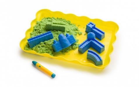 Кинетический песок зелёный 750 г Happy Baby