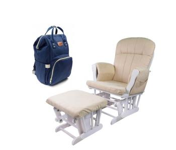 Кресло для мамы  Vesca с сумкой-рюкзаком Tarde Forest