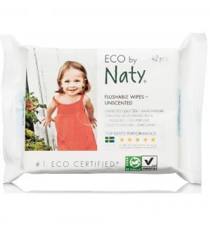 Влажные салфетки  смываемые, 42 шт Naty