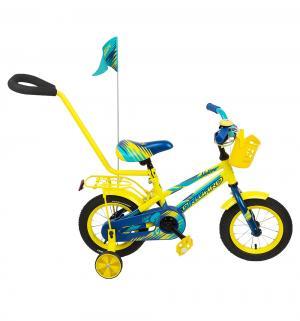 Велосипед  Meteor 12, цвет: желтый/синий Forward
